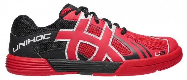 ec6610fd0e9 Unihoc U3 Junior Red florbalová obuv - Florbal.com