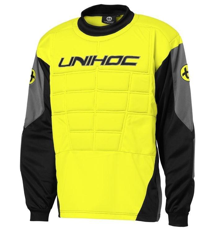 Unihoc Blocker Neon Yellow Jr. brankářský dres 140 žlutá