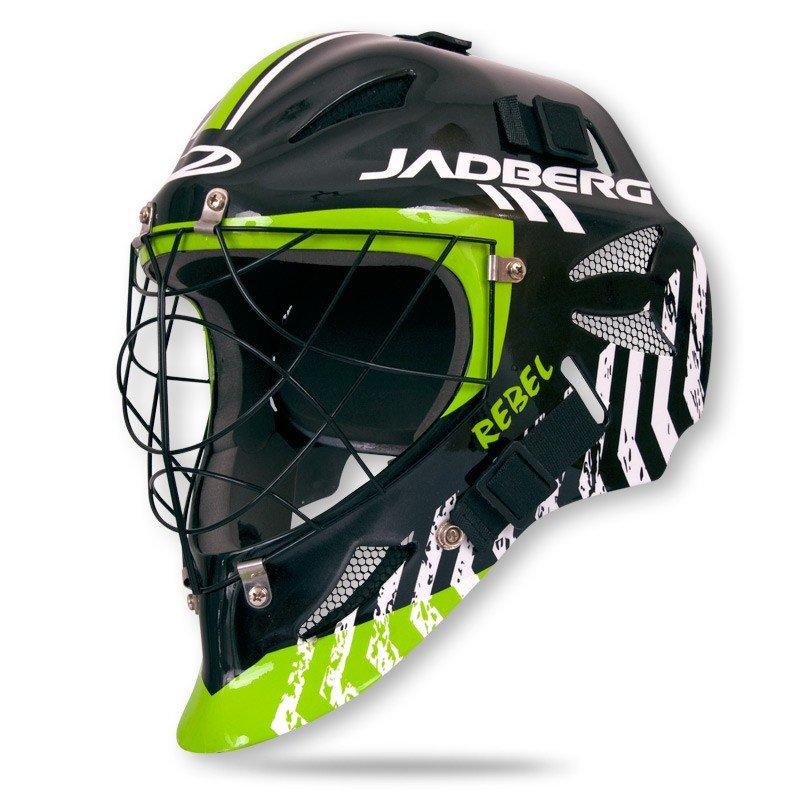 Jadberg Rebel brankářská maska černá-zelená-bílá