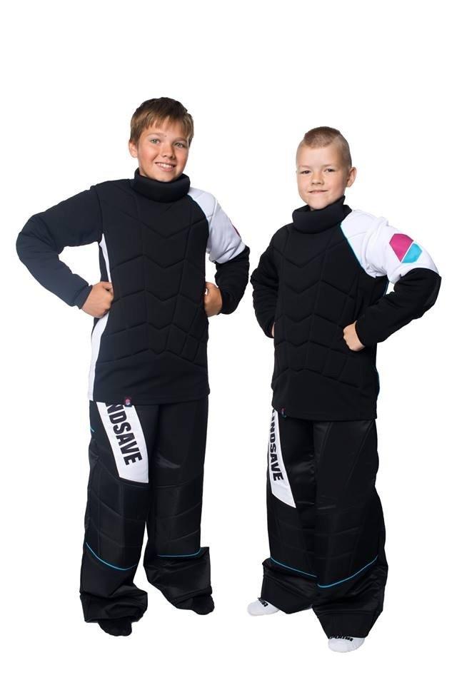 BlindSave dětský brankářský komplet 140 černá-bílá