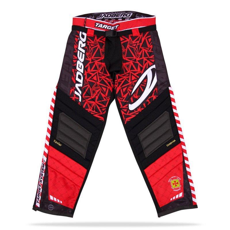 Jadberg Target Red brankářské kalhoty L červená-černá