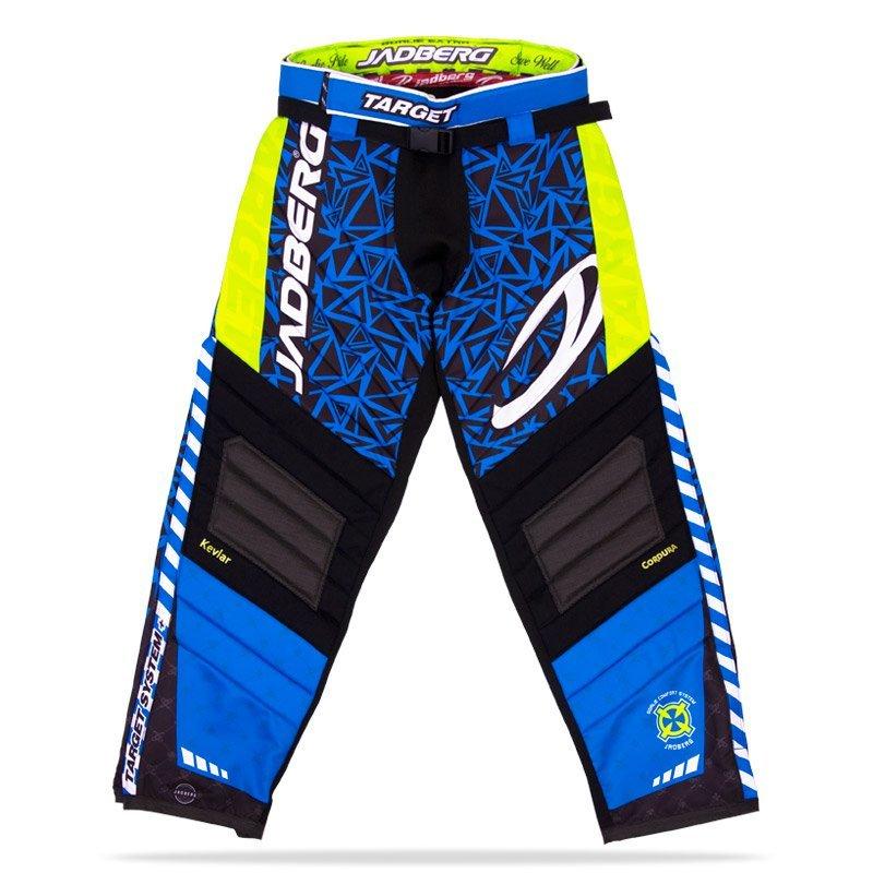 Jadberg Target Blue brankářské kalhoty L modrá-černá-žlutá
