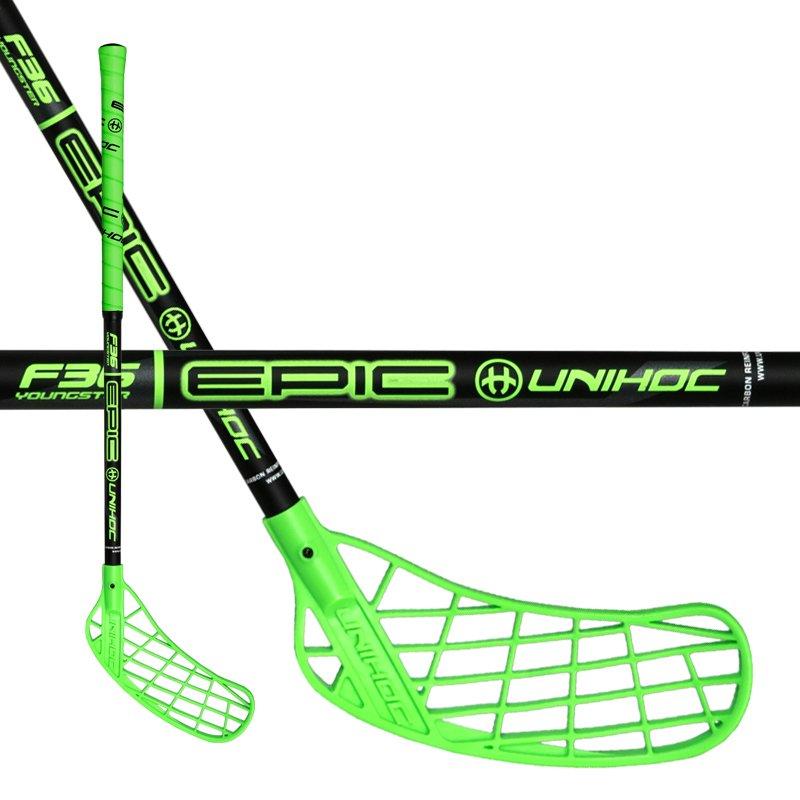 Unihoc Epic Youngster 36 Neon Green 16/17 55cm (=65cm) pravá (pravá ruka dole)
