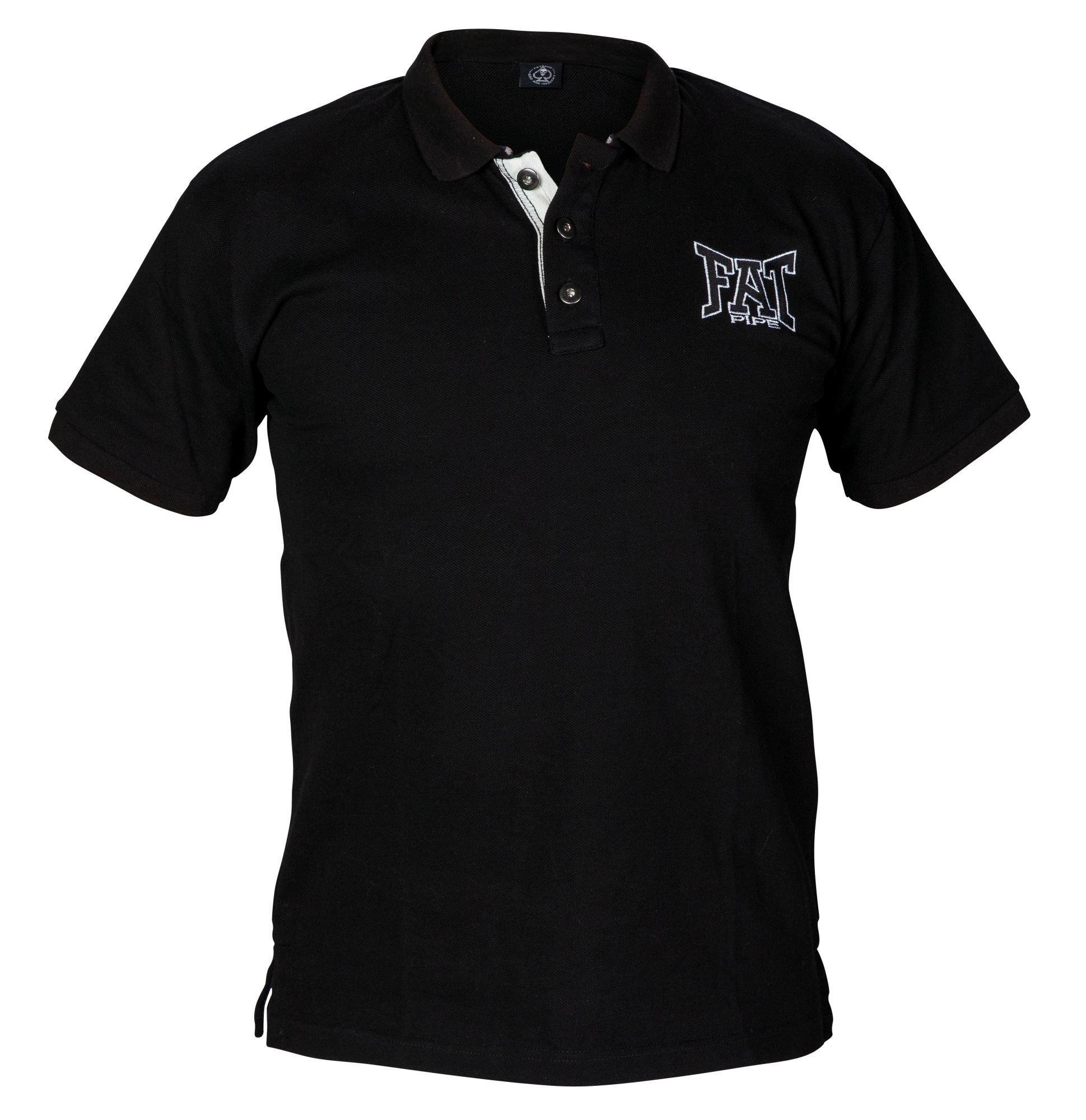 Fatpipe Rene triko s límečkem S černá