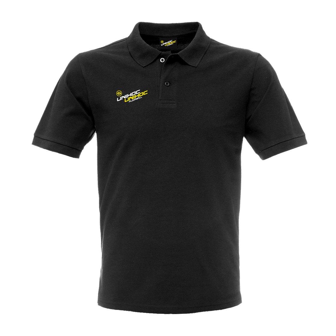 Unihoc SoHo tričko s límečkem S černá