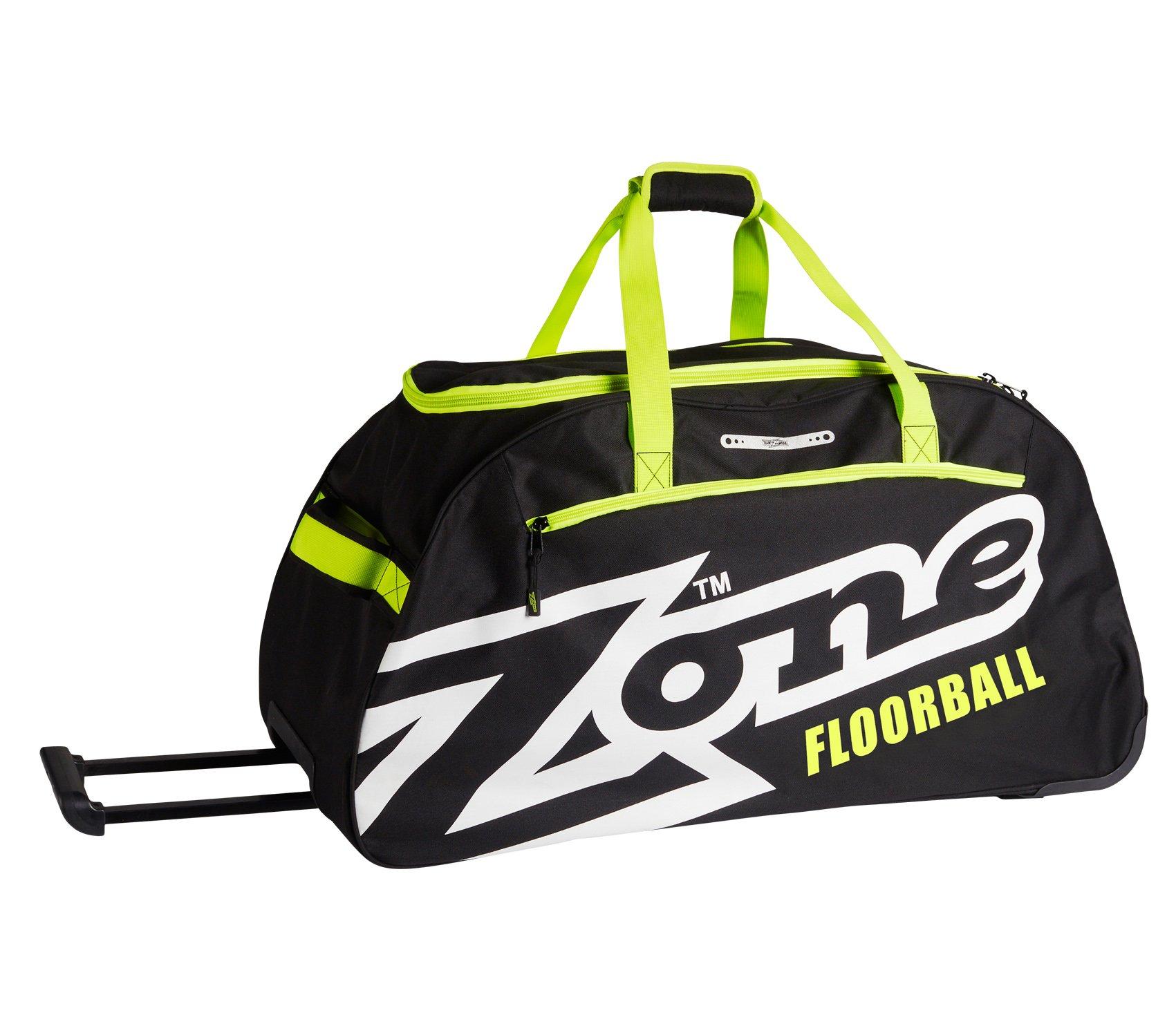 Zone EYECATCHER taška velká s kolečky černá-bílá-limetková