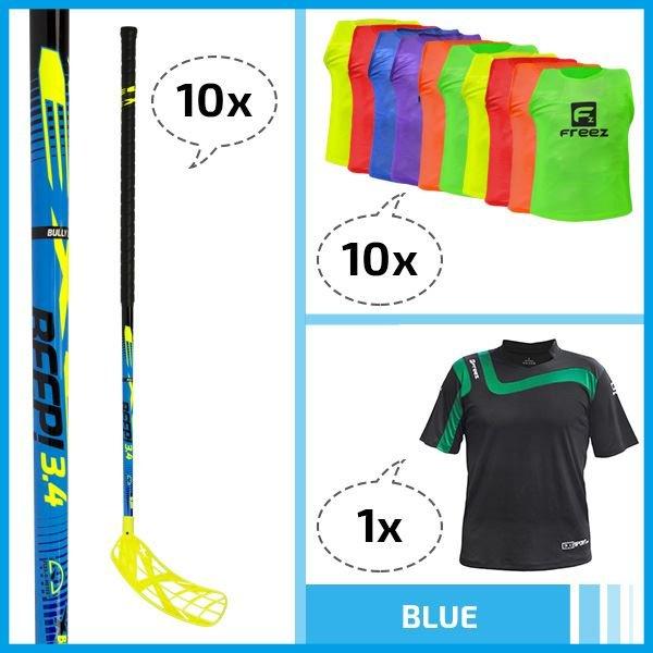Exel Floorball set - BLUE - 98cm 98cm (=109cm)
