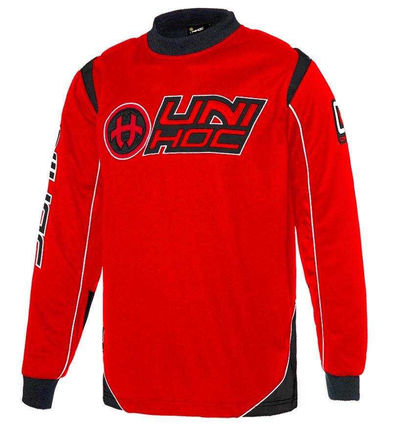 Unihoc Optima JR. Neon Red/Black brankářský dres 160 červená-černá