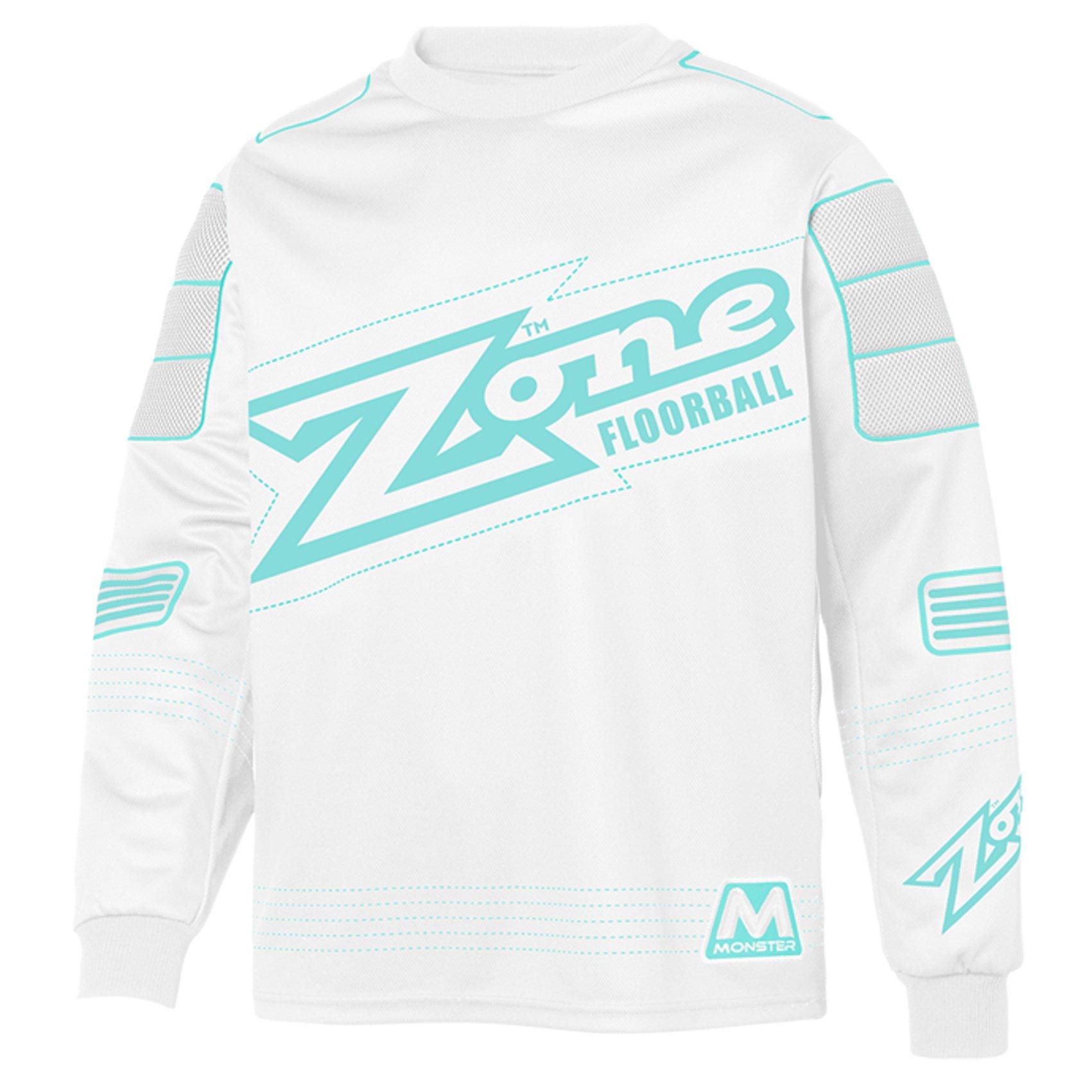Zone Monster White-Turquoise brankářský dres L bílá-tyrkysová