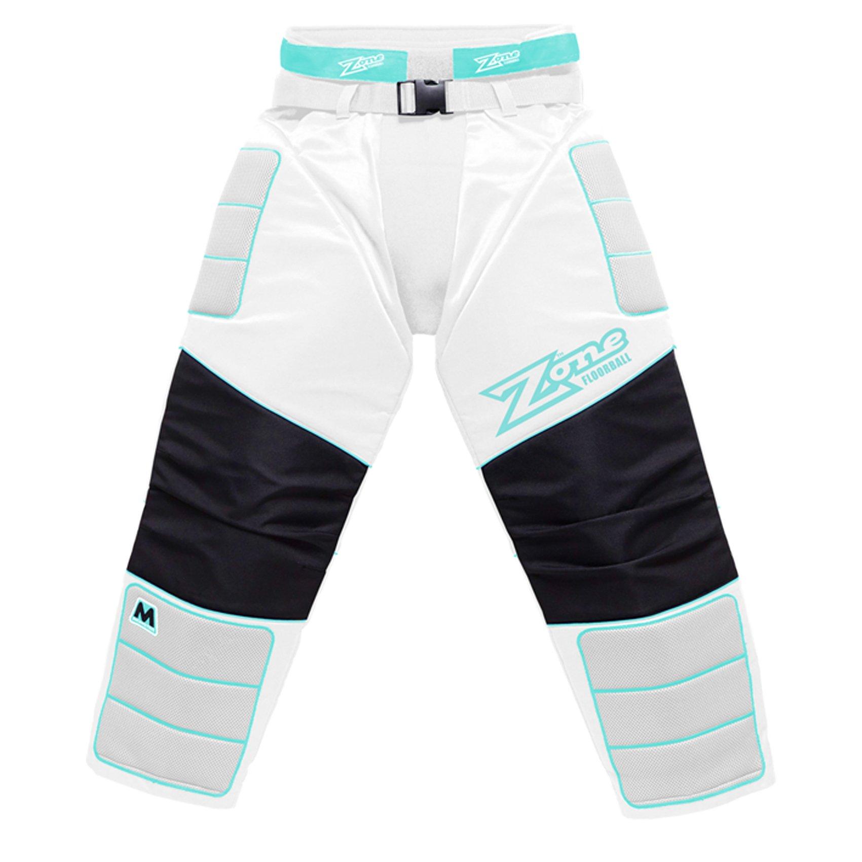 Zone Monster White-Turquoise brankářské kalhoty XXL bílá-tyrkysová